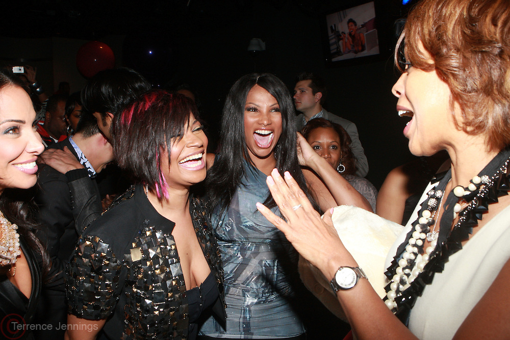 """l to r: Joumanna Kidd, Kali """" Kittie"""" Troy,, Sandra """"Pep"""" Denton, Gayle King at the Celebration for the Finale episode of the VH1 hit reality show ' Let's talk about Pep held at the Comix Club on March 1, 2010 in New York City."""