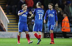 Jack Marriott of Peterborough United celebrates his goal with team-mate Marcus Maddison - Mandatory by-line: Joe Dent/JMP - 21/11/2017 - FOOTBALL - ABAX Stadium - Peterborough, England - Peterborough United v Portsmouth - Sky Bet League One