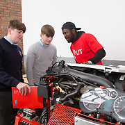 20.10.17.            <br /> Enjoying the LIT (Limerick School of Technology) open day were, Patrick Hassett and Tom Scanlon, Crescent Comprehensive with Patrick Mukuna, LIT Mechanical Engineering Student. Picture: Alan Place