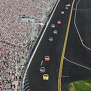 A general front stretch overview of the Daytona 50 Sprint Cup race at Daytona International Speedway on February 20, 2011 in Daytona Beach, Florida. (AP Photo/Alex Menendez)