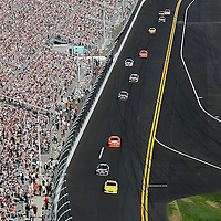 A general front stretch overview of the Daytona 50 Sprint Cup race at Daytona International Speedway on February 20, 2011 in Daytona Beach, Florida. (AP Photo/Alex Menendez)