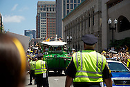 June 18, 2011, Boston, MA - The parade arrives at Boylston Street and Exeter Street. Photo by Lathan Goumas.