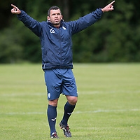 St Johnstone FC Training….Assistant Manager Callum Davidson during pre-season training.<br />