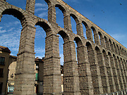 The Roman Aqueduct of Segovia. Built by Trajan in 1st century AD, it is the tallest surviving Roman Aqueduct, and a testament to Roman ingenuity.
