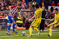 "Atletico de Madrid's player Gabriel ""Gabi"" Fernández and CF Rostov's player Sardar Azmoun during a match of UEFA Champions League at Vicente Calderon Stadium in Madrid. November 01, Spain. 2016. (ALTERPHOTOS/BorjaB.Hojas)"