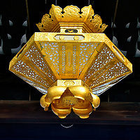 Goeido Gate Lantern at Nishi Honganji in Kyoto, Japan<br />