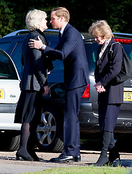 Prince William attends the funeral of his former nanny Olga Powell in Harlow, Essex along with Lady Jane Fellowes and Sarah McCorquodale , Wednesday, 10th October 2012.  Photo by: i-Images