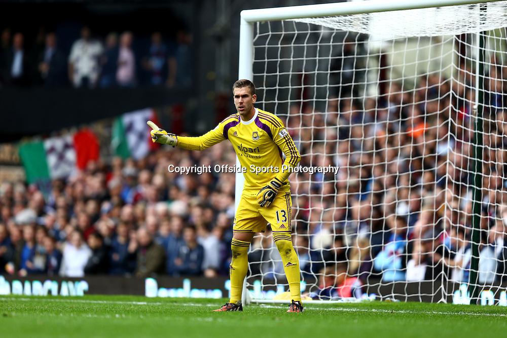 25 October 2014 - Barclays Premier League - West Ham v Manchester City - Adrian of West Ham - Photo: Marc Atkins / Offside.