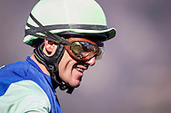 December 26, 2015: Santiago Gonzalez smiles after wining the first three races at Santa Anita Park, Arcadia CA. Evers/ESW/CSM