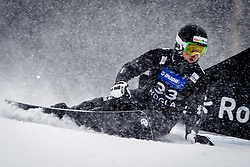 Johann Stefaner (AUT) competes during Qualification Run of Men's Parallel Giant Slalom at FIS Snowboard World Cup Rogla 2016, on January 23, 2016 in Course Jasa, Rogla, Slovenia. Photo by Ziga Zupan / Sportida