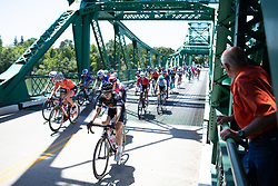 The peloton crosses the freeport bridge during Stage 1 of the Amgen Tour of California - a 124 km road race, starting and finishing in Elk Grove on May 17, 2018, in California, United States. (Photo by Balint Hamvas/Velofocus.com)