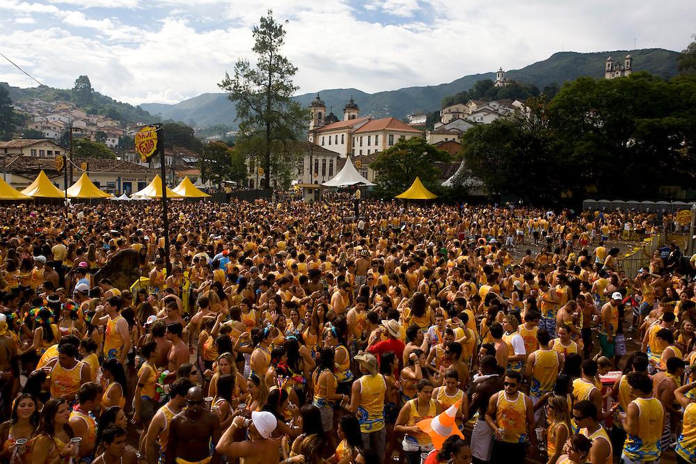 Ouro Preto_MG, Brasil...Bloco da Praia no carnaval em Ouro Preto...The Praia  carnival block  in Ouro Preto...Foto: LEO DRUMOND /  NITRO