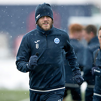St Johnstone Training…19.01.18<br />Murray Davidson pictured in training this morning at McDiarmid Park ahead of tomorrow's Scottish Cup game against Albion Rovers<br />Picture by Graeme Hart.<br />Copyright Perthshire Picture Agency<br />Tel: 01738 623350  Mobile: 07990 594431