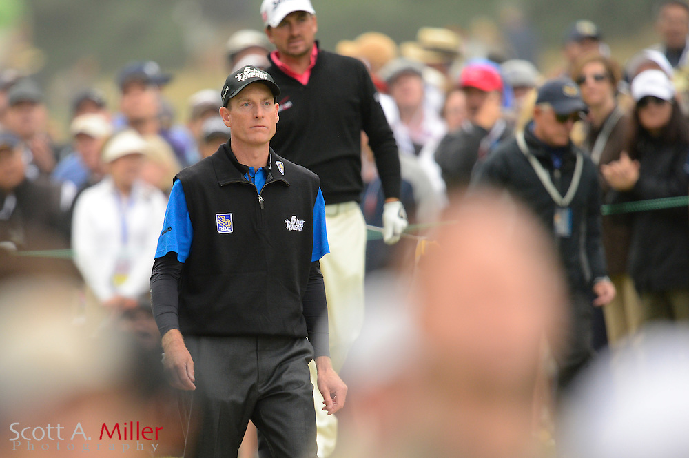 Jim Furyk during the final round of the 112th U.S. Open at The Olympic Club on June 17, 2012 in San Fransisco. .©2012 Scott A. Miller