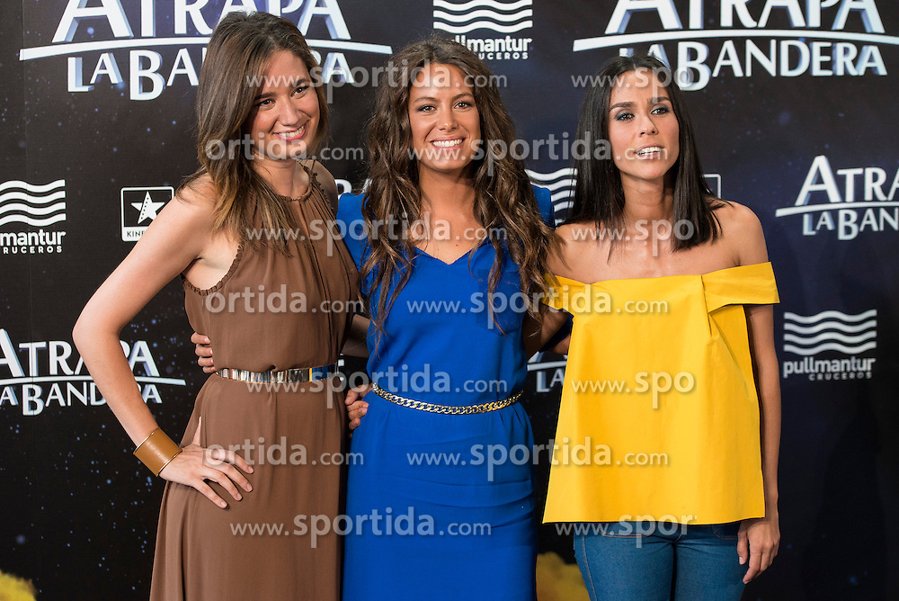 26.08.2015, Kinepolis Cinema, Madrid, ESP, Atrapa la Bandera, Premiere, im Bild Weather host Rosemary Alker (L), Laura Madrue&ntilde;o (C), Alba Lago (R) attends to the photocall // during the premiere of spanish cartoon 'Capture The Flag&quot; at the Kinepolis Cinema in Madrid, Spain on 2015/08/26. EXPA Pictures &copy; 2015, PhotoCredit: EXPA/ Alterphotos/ BorjaB.hojas<br /> <br /> *****ATTENTION - OUT of ESP, SUI*****