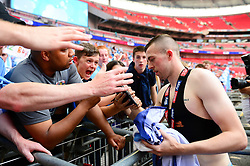 Jordan Shipley of Coventry City celebrates with fans after winning the Sky Bet League Two final - Mandatory by-line: Dougie Allward/JMP - 28/05/2018 - FOOTBALL - Wembley Stadium - London, England - Coventry City v Exeter City - Sky Bet League Two Play-off Final