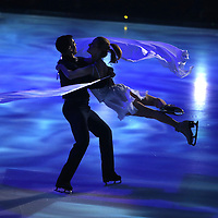 Professional ice skaters participate during the opening number during the Stars on Ice Figure Skating tour stop at the Amway Center on Sunday, April 6, 2014 in Orlando, Florida. (AP Photo/Alex Menendez)