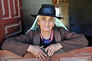 Campesina woman shopkeeper in Postrervalle, Santa Cruz, Bolivia
