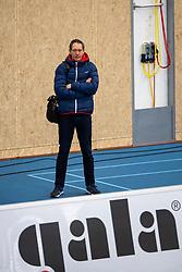 20-01-2019 NED: Talent Team Papendal - Sliedrecht Sport, Ede<br /> Round 15 of Eredivisie volleyball. Sliedrecht Sport win 3-0 (14-25, 14-25, 20-25) of Talent Team / Claudio Gewehr of Talent Team