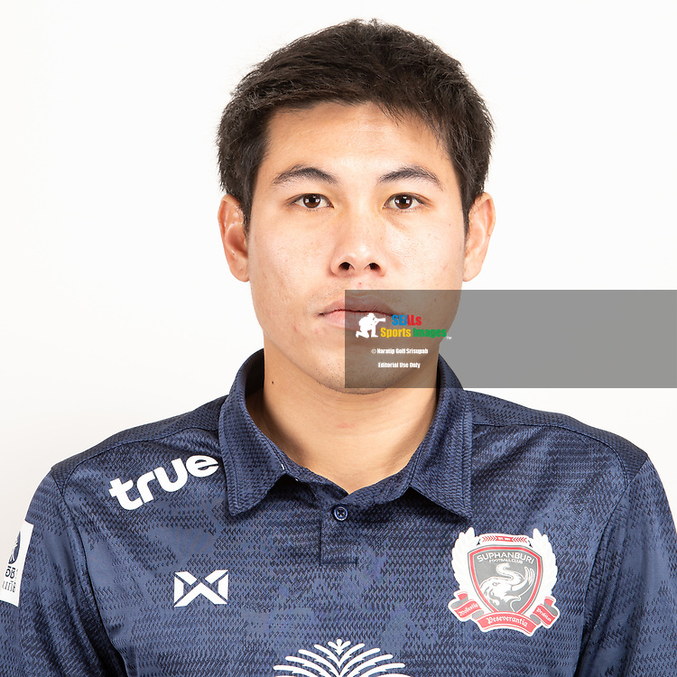 THAILAND - JUNE 07: Santitorn Lattirom #6 of Suphan Buri FC on June 07, 2019.<br /> .<br /> .<br /> .<br /> (Photo by: Naratip Golf Srisupab/SEALs Sports Images/MB Media Solutions)