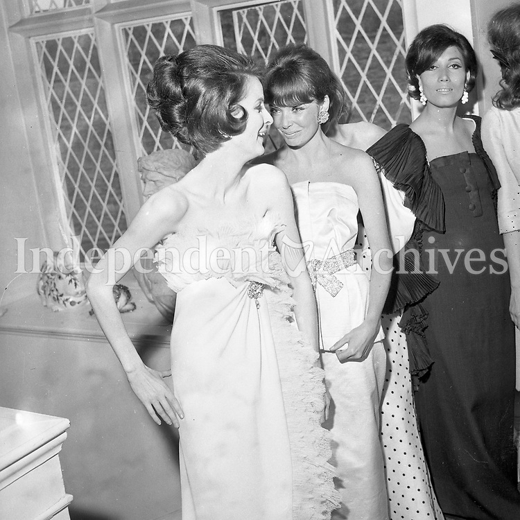Michelle O'Leary, Liliane Samsoviei, Francoise Alt Parisian Mills fashion show in the 1960's.<br />