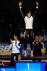 31-10-2009 SCHAATSEN: NK AFSTANDEN: HEERENVEEN<br /> Ireen Wust wint de 3000 meter en Renate Groenewold wordt tweede<br /> ©2009-WWW.FOTOHOOGENDOORN.NL
