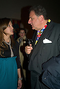 MARIA BAIBAKOVA AND JOHNNY PIGOZZI. Opening of 'From Russia' Royal Academy of arts. Picadilly. London. 22 January 2008. -DO NOT ARCHIVE-© Copyright Photograph by Dafydd Jones. 248 Clapham Rd. London SW9 0PZ. Tel 0207 820 0771. www.dafjones.com.