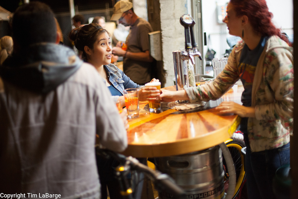Biketobeer Festival 2013 at Hopworks Urban Brewery in Portland, Oregon. Image by Tim LaBarge