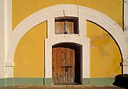 doorway & arch, San Cristóbal fortress at San Juan National Historic Site, Old San Juan, Puerto Rico..