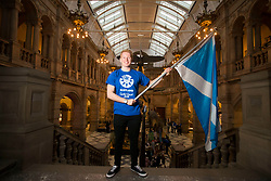Team Scotland's diver James Heatly during a photocall at Kelvingrove Art Gallery.