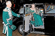 COPENHAGEN -  Queen Margrethe of Denmark and Henrik, Prince Consort of Denmark is the husband of Queen Margrethe arrives at the annual New Years reception in Amalienborg Palace in Copenhagen, Denmark, 1 January 2015 COPYRIGHT ROBIN UTRECHT