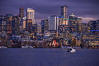 Downtown Seattle on Lake Union, Overcast