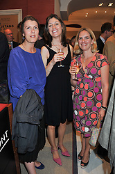 Left to right, SOPHIE HAIG-THOMAS, KATE ENGLISH and PETRINA MARTIN at the launch of the Bremont Boutique, 29 South Audley Street, London on 17th July 2012.