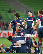 Luke Jones (Rebels) during the Round 15 match of the 2013 Super Rugby Championship between RaboDirect Rebels vs HSBC Waratahs at AAMI Park, Melbourne, Victoria, Australia. 24/05/0213. Photo By Lucas Wroe