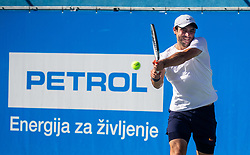 Artem Dubrivnyy of Russia playing Singles in 3rd Round of ATP Challenger Zavarovalnica Sava Slovenia Open 2019, day 7, on August 15, 2019 in Sports centre, Portoroz/Portorose, Slovenia. Photo by Vid Ponikvar / Sportida