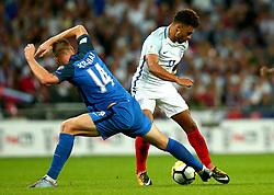 Alex Oxlade-Chamberlain of England takes on Milan Skriniar of Slovakia - Mandatory by-line: Robbie Stephenson/JMP - 04/09/2017 - FOOTBALL - Wembley Stadium - London, United Kingdom - England v Slovakia - 2018 FIFA World Cup Qualifier