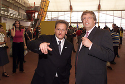 The Dome will be taken over as from January 2001 by Dome Europe..L  to R - P-Y Gerbeau Ceo and Guy Hands M.D, July 27, 2000. Photo by Andrew Parsons / i- Images...
