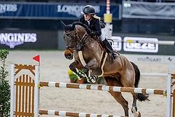BORMANN Finja (GER), A crazy son of Lavina<br /> Stuttgart - German Masters 2019<br /> PREIS DER FIRMA XXL-SICHERHEIT<br /> Zeitspringprüfung International<br /> Qualifikation zum MERCEDES GERMAN MASTER<br /> 14. November 2019<br /> © www.sportfotos-lafrentz.de/Stefan Lafrentz