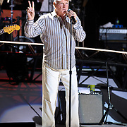 COLUMBIA, MD - June 15th, 2012 - Mike Love of The Beach Boys performs at Merriweather Post Pavilion as part of the band's 50th Anniversary Reunion Tour. This tour marks the first time chief songwriter Brian Wilson has done a full range of dates with the band since 1965. (Photo by Kyle Gustafson/For The Washington Post)