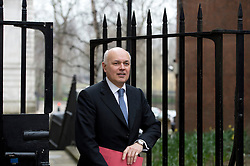 © London News Pictures. 19/03/2013. London, UK.  Secretary of State for Work and Pension Iain Duncan Smith MP arriving on Downing Street in London for cabinet meeting. Photo credit: Ben Cawthra/LNP.
