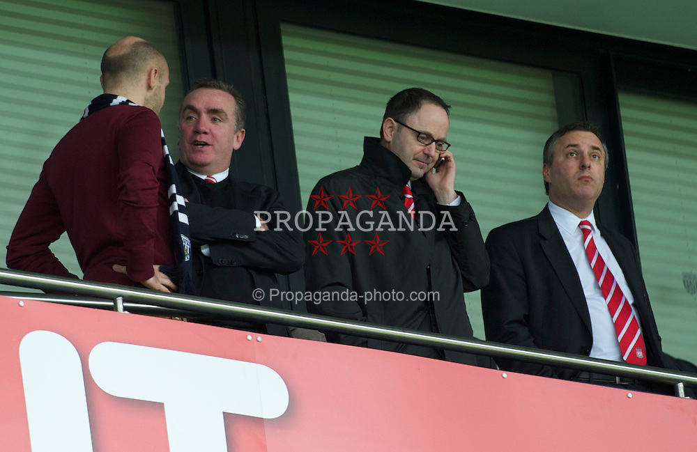 WEST BROMWICH, ENGLAND - Saturday, April 2, 2011: Liverpool's new managing director Ian Ayre during the Premiership match against West Bromwich Albion at The Hawthorns. (Photo by Dave Kendall/Propaganda)
