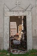 Torrita, 13/04/2017: cimitero danneggiato dal terremoto del 30 ottobre.<br /> &copy; Andrea Sabbadini
