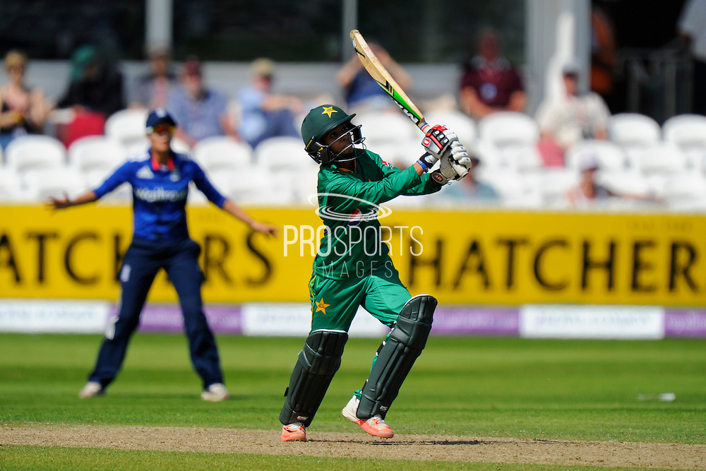 Pakistan Women's Sidra Nawaz during the Royal London ODI match between England Women Cricket and Pakistan Women Cricket at the Cooper Associates County Ground, Taunton, United Kingdom on 27 June 2016. Photo by Graham Hunt.