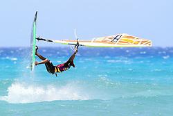 26.07.2015, Costa Calma, Fuerteventura, ESP, PWA Windsurfing Freestyle Grand Slam, im Bild Thode Kiri NB-61 // during the PWA Windsurfing Freestyle Grand Slam at the Costa Calma in Fuerteventura, Spain on 2015/07/26. EXPA Pictures © 2015, PhotoCredit: EXPA/ Eibner-Pressefoto/ Roskaritz<br /> <br /> *****ATTENTION - OUT of GER*****
