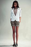 Mariana Santana poses wearing Organic by John Patrick Spring 2011 during Mercedes-Benz Fashion Week in New York on September 8, 2010