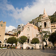 Chesia S. Guiseppe and Porto Mezzo in the city of Taormina, Sicily, Italy