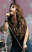 Alanis Morissette performs live on the V stage during Day one of V Festival 2008 at Hylands Park on August 16, 2008 in Chelmsford, England.  (Photo by Simone Joyner)