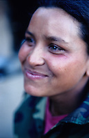 A Maoist woman in a village of Dailekh - west of Nepal. She is a member of the  Maoist Army