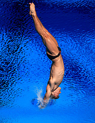 England's Ross Haslam in action during the Men's 1m Springboard Preliminary at the Optus Aquatic Centre during day seven of the 2018 Commonwealth Games in the Gold Coast, Australia.