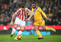 Marko Arnautovic of Stoke City shoots at goal. - Mandatory by-line: Alex James/JMP - 11/02/2017 - FOOTBALL - Bet365 Stadium - Stoke-on-Trent, England - Stoke City v Crystal Palace - Premier League